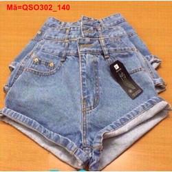 Quần short jean nữ lưng cao form chuẩn QSO302