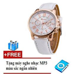 Đồng hồ nữ dây da tổng hợp Geneva GE003-2  + Tặng máy nghe nhạc mp3