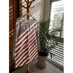Bộ váy yếm kết hợp áo thun tay dài Freesize Hàn Quốc FS4