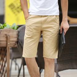 Quần shorts kaki nam màu vàng nhạt