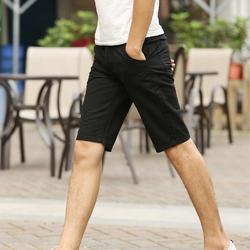 Quần shorts kaki nam màu đen