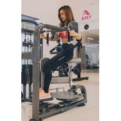 Quần legging Armour gym dài họa tiết chấm bi đen QA02