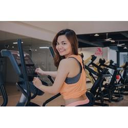 Áo tập gym yoga Tank Rê bóc thể thao nữ
