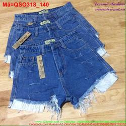 Quần short jean nữ lai tua rua sành điệu QSO318