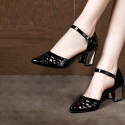 Giày loại 1- giày cao gót quai cắt laze356