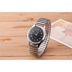 Đồng hồ thời trang Nữ Dây co dãn mặt đen