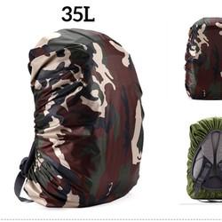 Túi trùm balo đi mưa - áo mưa ba lô 35L