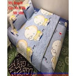 Bộ dra giường kèm mền và áo gối hình baby boy dễ thương Drap38