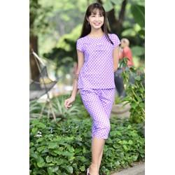 Bộ đồ bộ mặc nhà chấm bi tím Lavender