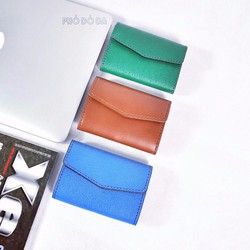 ví da handmade mini folwer wallet
