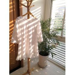 Đầm ren suông trắng tay lỡ cao cấp trẻ trung FS10