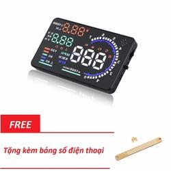 Thiết bị hiển thị tốc độ HUD A8 được tặng kèm theo bảng số điện thoại