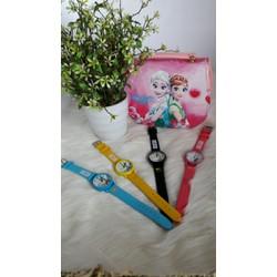 Combo túi xách và đồng hồ thời trang sành điệu cho bé gái