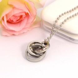 Mặt dây chuyền inox 3 chiếc nhẫn lồng cao cấp