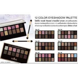 Phấn Mắt 12 Color EyeShadow Palette ODBO
