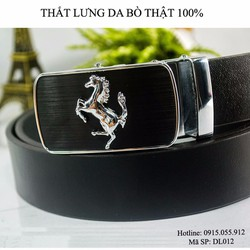 Thắt lưng Nam da bò thật hình con ngựa - Sang trọng, lịch lãm.