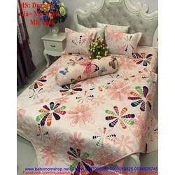 Bộ dra giường họa tiết hình cánh hoa màu nổi bật Drap44