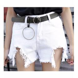 quần short jeans rách cái bang Mã: QN749 - TRẮNG
