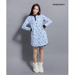 Đầm ngủ suông tay dài vải nỉ bông mịn B30 M