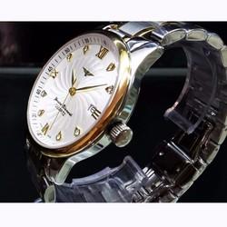 đồng hồ kim dây inox đặc kính saphire mã LG502.