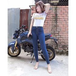 Quần jeans trengging lưng cao