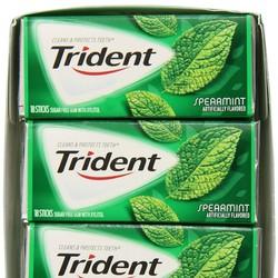 Kẹo cao su Trident Spearmint - Vị bạc hà lục the mát