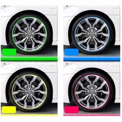 Chỉ dánh vành xe hơi nhiều màu sắc