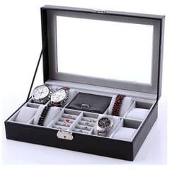 Hộp đựng 8 đồng hồ và trang sức cao cấp