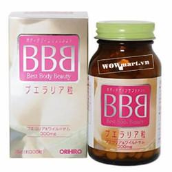 Viên uống nở ngực Orihiro Best Body Beauty BBB 300 viên Wowmart VN