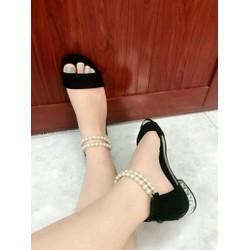 giày trân châu cute