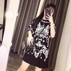 Đầm suông tay con hoạ tiết _MỎ CHU SHOP