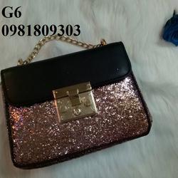 Túi xách kim tuyến cao cấp đeo chéo nữ- G6