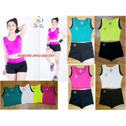 SET bộ quần áo thể thao nữ ngắn 4 màu thời trang
