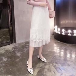 Chân váy ren lưới dài Chiba Shop