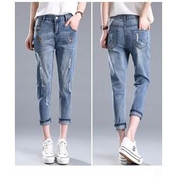 Quần Jeans nữ thời trang thiết kế độc đáo - Q11460665