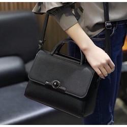 Túi xách nữ khóa màu đen trơn cao cấp sang trọng