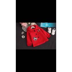 áo khoác Mickey dạng form dài điệu đà, cá tính cho các công chúa nhỏ.