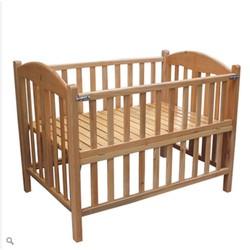 Cũi Giường em bé 2in1 80x120cm gỗ sồi cao cấp có bánh xe