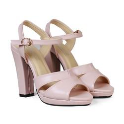 Giày Sandal Nữ Cao Gót 11 cm Đế Đúp HC1343
