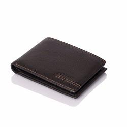 Bóp ví da nam VN021 ngang màu nâu đen