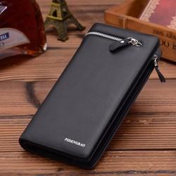 Bóp ví cầm tay DA PU có hộp sang trọng có thể làm quà tặng