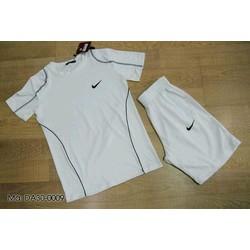 Bộ quần áo thể thao nam trắng