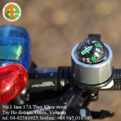 chuông xe đạp hợp kim nhôm mạ điện nhiều màu có la bàn hình cầu