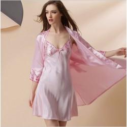 Áo choàng váy ngủ phi lụa kín đáo, sang trọng TK795