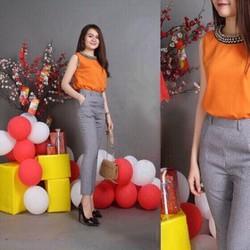 Sét bộ quần dài + áo cổ đính hạt Mã sản phẩm: GS164-T210