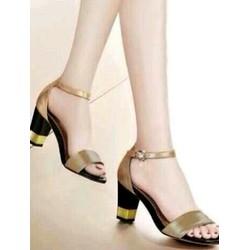 giày cao gót quai ngang gót vuông