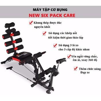 Máy tập cơ bụng New Six Pack Care có đạp chân - Hàng cao cấp ...