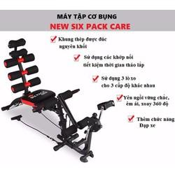 Máy tập cơ bụng New Six Pack Care có đạp chân