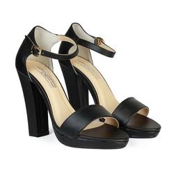 Giày Sandal Nữ Cao Gót 11 cm Đế Đúp Quai Ngang HC1344