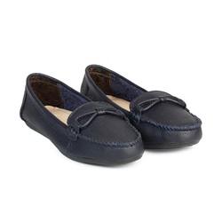 Giày Mọi Da nữ Cột Nơ Dây HC1372